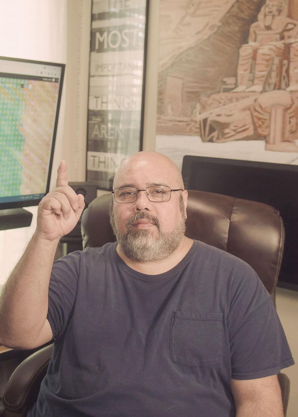 James Martinez - Aswan NFT - Pointing Up To God